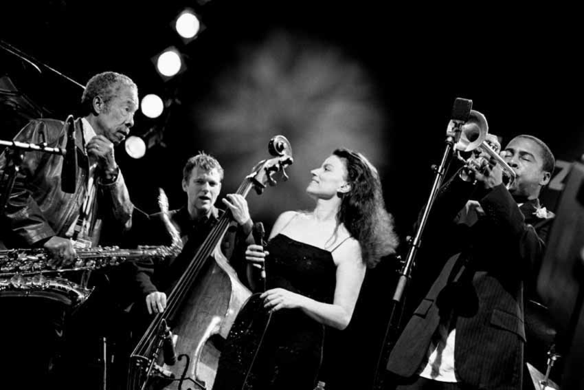 With Johnny Griffin, Roberta Gambarini and Roy Hargrove at 2004 Jazzbaltica