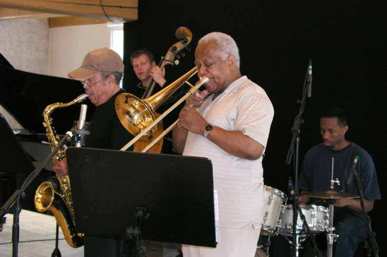 Rehearsal with Johnny Griffin, Slide Hampton and Willie Jones III 